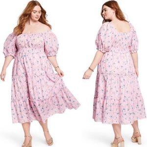 LoveShackFancy Sabina Smocked Dress 1X